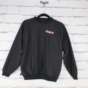 Charles River Apparel Black Windshirt with Logo